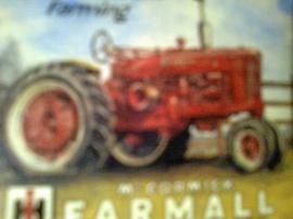Farmall plåtskylt. Modell Farmall 806.