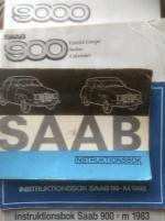 Saab instruktionsböcker