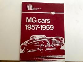 MG cars 1957-1959