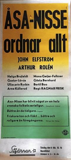 Åsa-Nisse ordnar allt - Bioaffisch