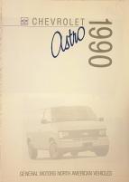 Chevrolet Astro 1990 broschyr