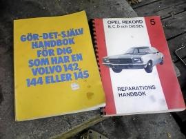 REPRATIONSHANDBOK OPEL REKORD, VOLVO 142