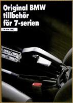 Broschyr BMW 7-serien E32 tillbehör på svenska