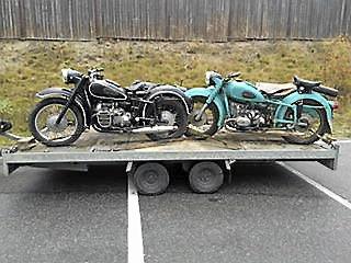 Gammal Rysk motorcykel
