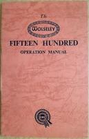 Wolseley 1500 instruktionsbok 1957