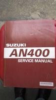 Service bok Suzuki AN 400