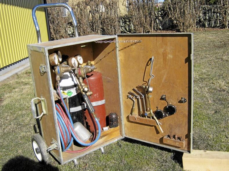 Komplett gassvetsutrustning.