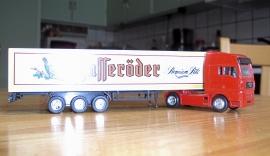 """Lastbil med """"Dryckesvaror"""""""