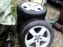 4 st dubbade vinterhjul på alu-fälgar 205/55