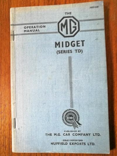 Instruktionsbok MG Midget TD