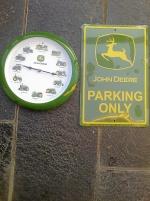 John Deere väggur / parkeringsskylt