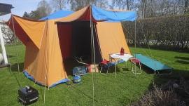 Nostalgisk campingutrustning