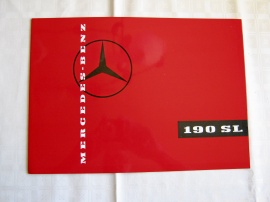 Försäljningsbroschyr Mercedes 190 SL
