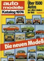 Automodelle Katalog 1974