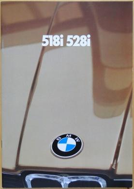 Broschyr BMW 518i 528i 1981
