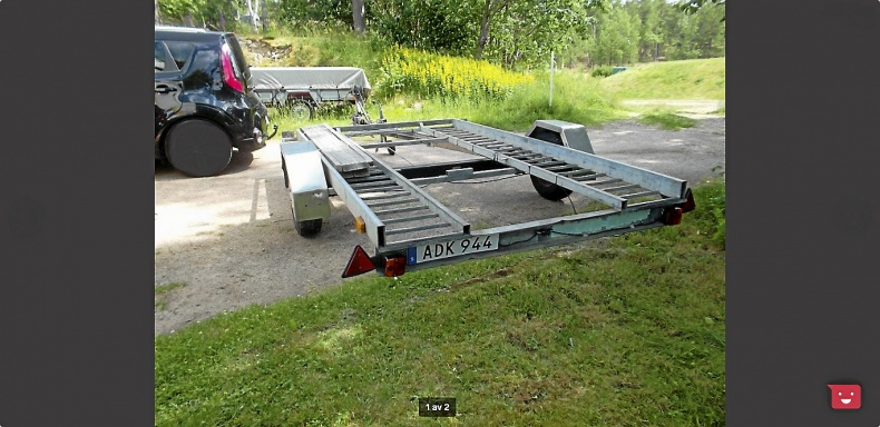 Biltransport Bålstasläpet Släpvagn Kärra