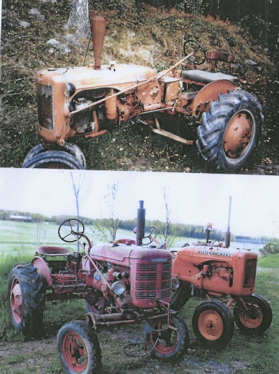 3 st traktorer