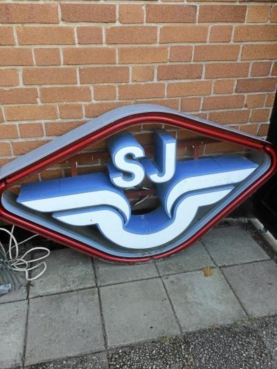 SJ Neonskylt