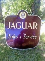 Stor emaljskylt Jaguar