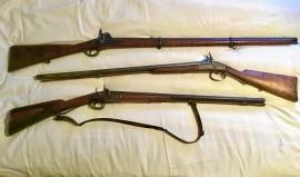 Tre gevär, slaglåsgevär