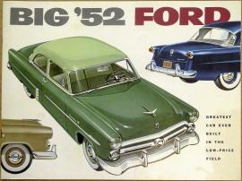 Broschyr Ford samtliga modeller 1952