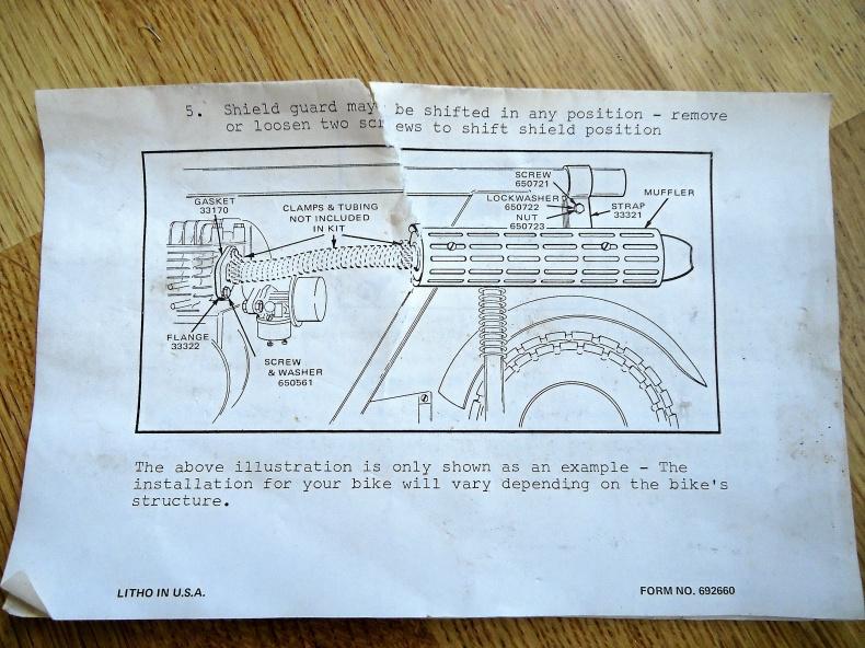Avgassystem till Tecumseh minibike eller kart