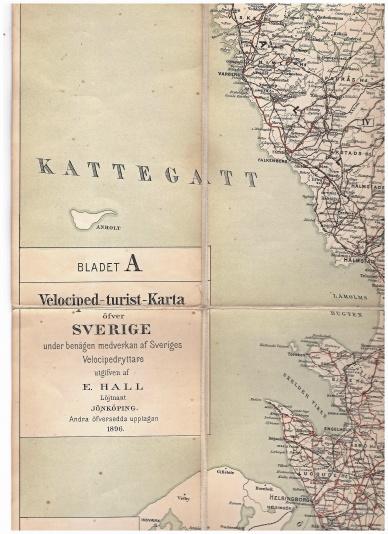 Sveriges första cykelturistkarta 1896