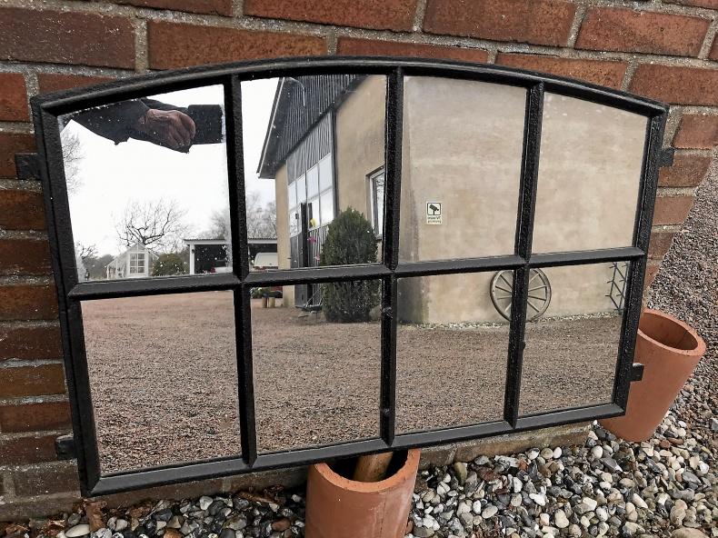 Stallfönster med spegelglas