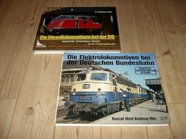 Två böcker om tyska el och diesellok