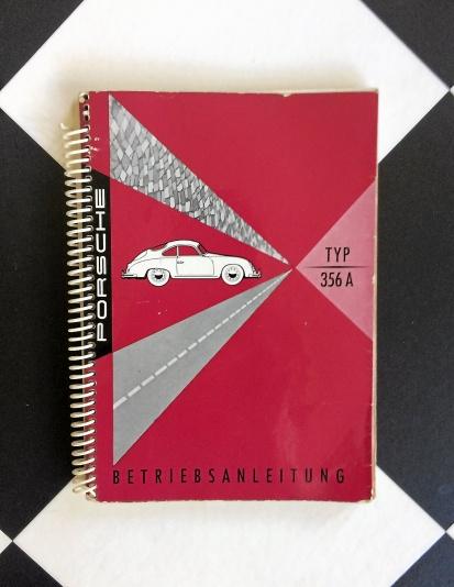Tysk bruksanvisning till Porsche 356A