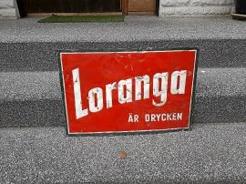 Loranga plåtskylt