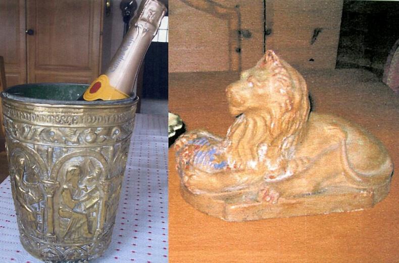 Lejon och champagnekylare