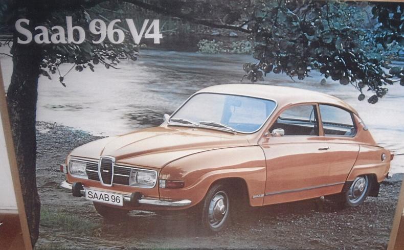 Saab planscher, broschyrer, modellbilar