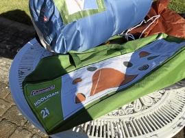 Coleman 2-mans tält, sovsäckar och madrasser