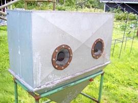 Blästerskåp med utrustning