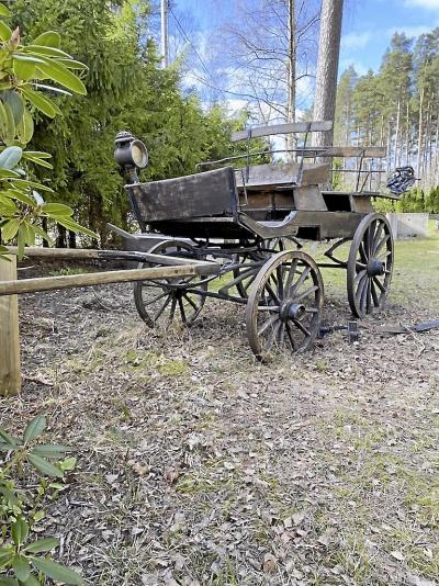 Gammal hästvagn