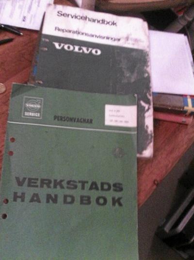 Servicehandbok och verktadshandbok Volvo