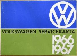 VW Servicekarta 1966/1967