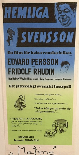 Edvard Persson - Hemliga Svensson Bioaffisch