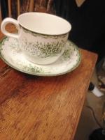 Rörstrand kaffe fat och kopp, 17 tallrikar Rörstrand