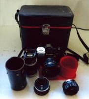Monolta kamera med objektiv