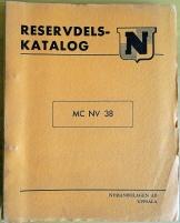 NV 38 MC reservdelskatalog inkl prislista 1957