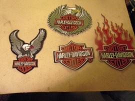 4 st Harley-Davidson tyg emblem