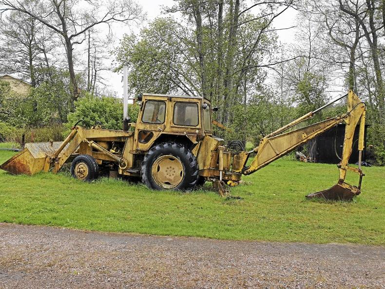 Traktorgrävare Nuffield 4