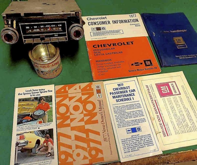 Cheva-77 originalradio och manualer