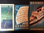 3 st broschyrer för färjan Gedser-Grossenbrode