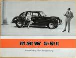 Broschyr BMW 501 1955 på svenska