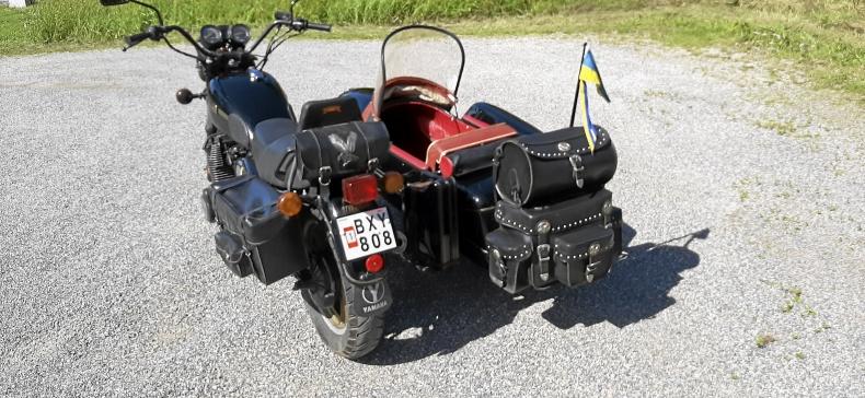 Yamaha XS 1100s med sidovagn