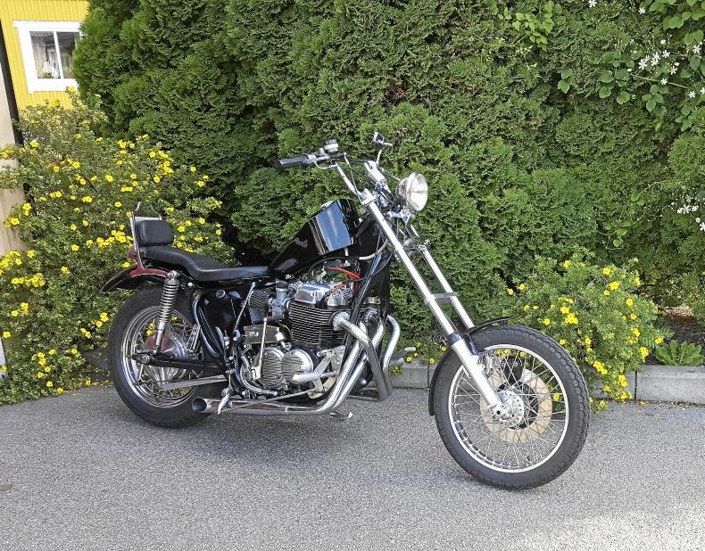 mobile_Classic chopper Honda 750cc