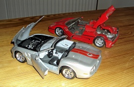 1:24 Shelby Cabriolet -99 + Ferrari F50 Cabirolet